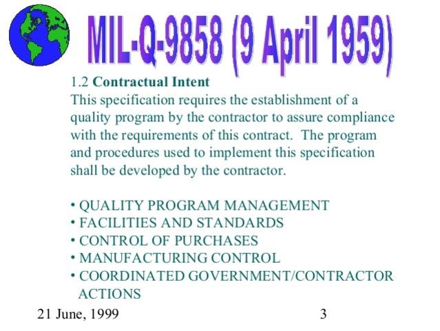 MIL-Q-9858