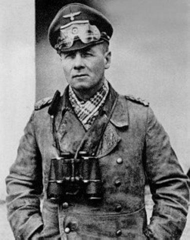 Afrika Korps leader Erwin Rommel arrives in Libya