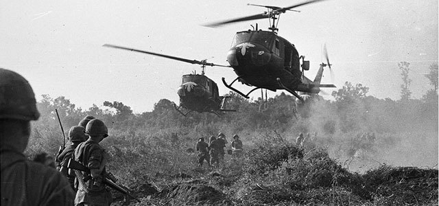 Some of the first American troups land in Vietnam