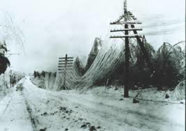 The most desctructive ice strom in Canada