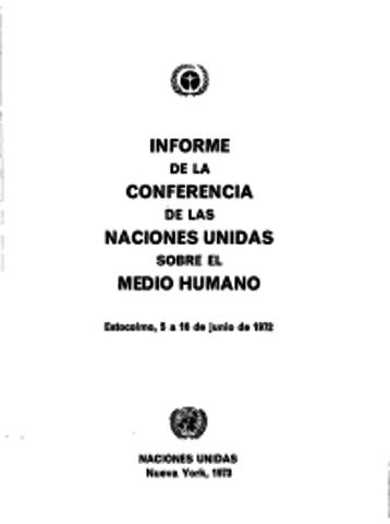 Conferencia sobre Medio Humano de las Naciones Unidas