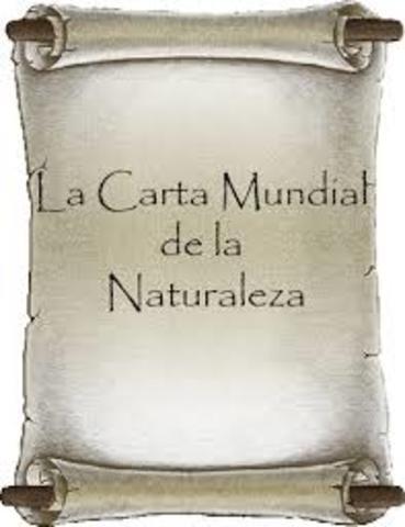 Carta Mundial de la ONU para la Naturaleza.