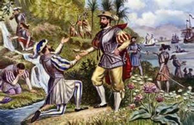 Ponce de Leon arrives in North America