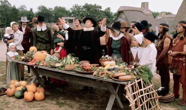 The first Thanksgiving takes place