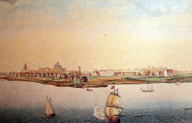 The English take over the Dutch colony of New Amsterdam