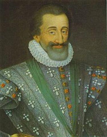 Hendrik IV op de troon in frankrijk