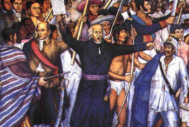 Levantamiento en armas en el pueblo de Dolores.