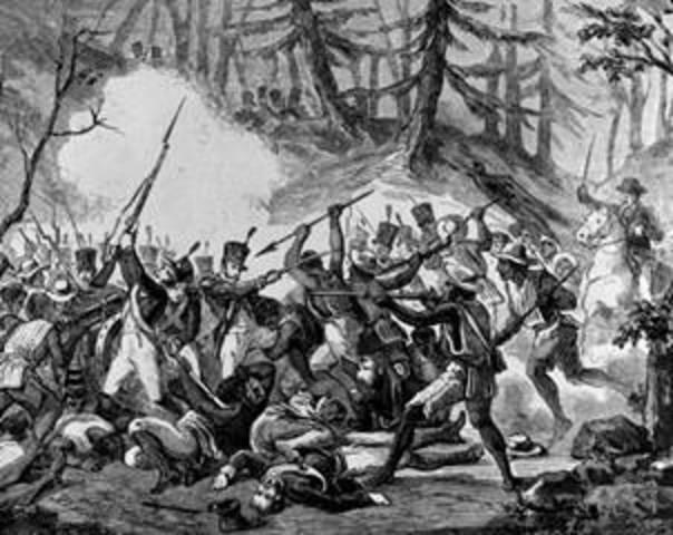 Batalla en el Cerro de las Cruces.