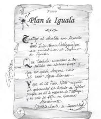 Se proclama el Plan de Iguala