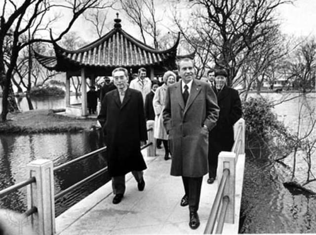 President Nixon visits China