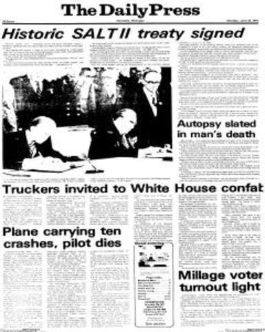 SALT II Treaty Signed