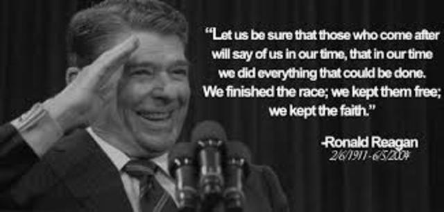 Ronald Reagan is elected 40th President of the United States