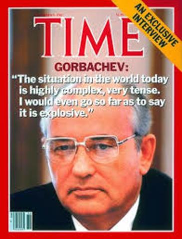 Mikhail Gorbachev becomes General Secretary of Soviet Communist Party