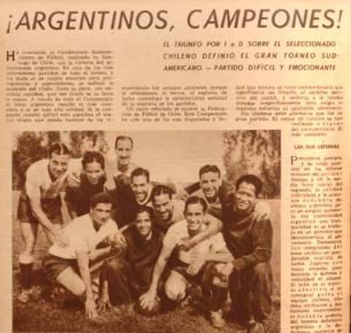 Argentina vs Uruguay, Campeonato Sudamericano 1941
