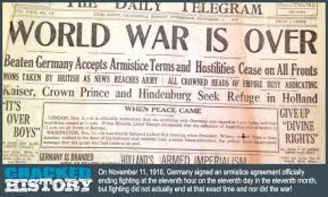 The end of the World War 1