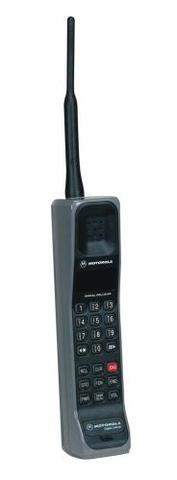 Motorola International 3200 - This phone was the first digital hand-sized mobile telephone.