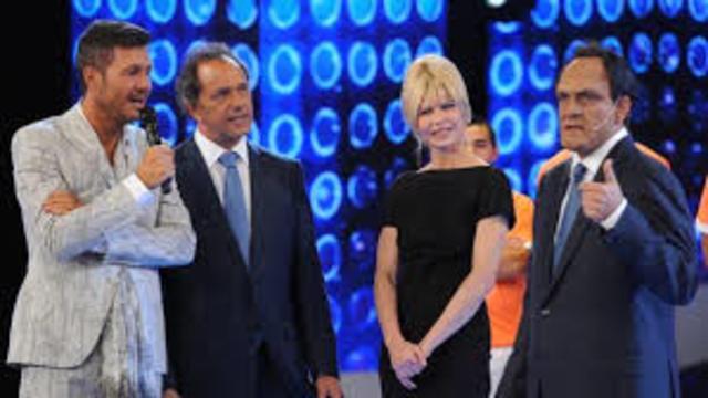 Tinelli con Scioli y Karina