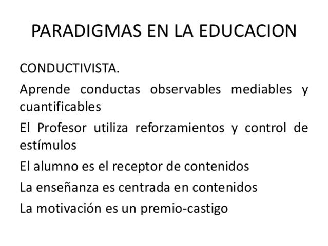 Perez Gomez. Paradigmas del Proceso Educativo