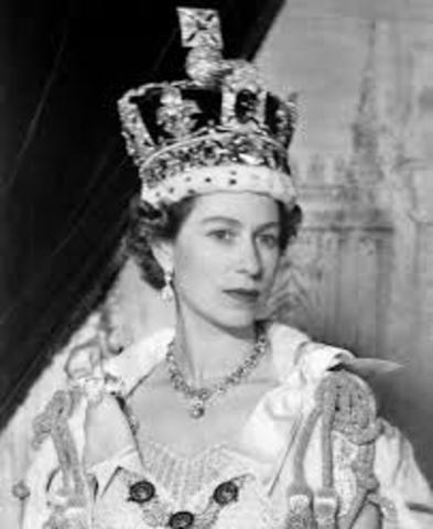 Queen Elizabeth II crowned