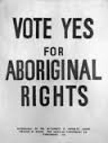 Aboriginal people can vote