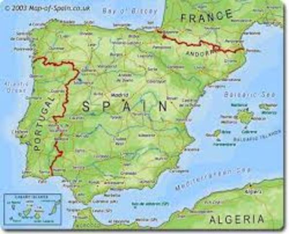 La geografía de Hispaña