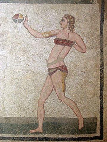 Se encuentran vestigios de que se practicaba el deporte en la antiguedad.
