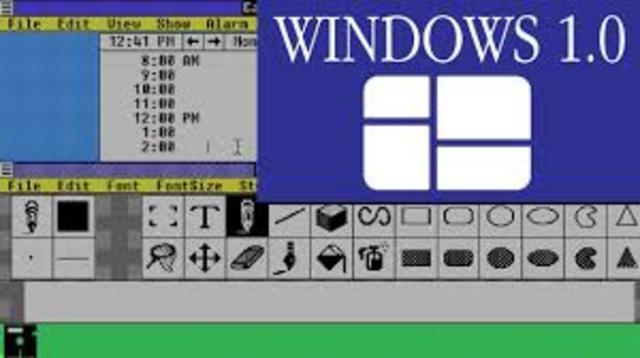 Primera version de Microsotf Windows 1.0