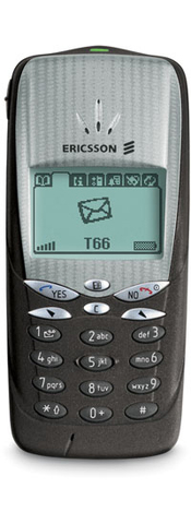 Ericsson T66 - This mobile was the size of a cigarette.