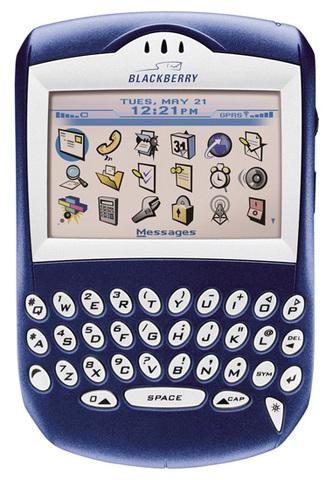 BlackBerry 7210 - BlackBerry's first colour screen.