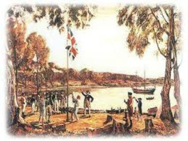 The First Fleet arrives in Botany Bay
