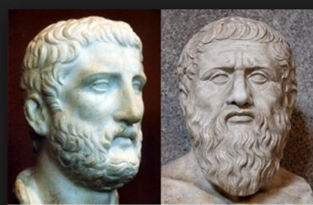 Demócrito & Platón