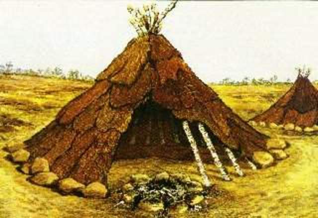 Año 13000 a.C. Construcción de viviendas