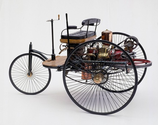The Final  Model of The Motorwagen. First Vehicle on Earth.