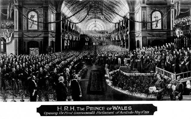 The Prince of Wales opens the first Commonwealth Parliament