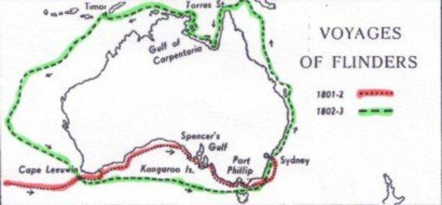 Matthew Flinders circumnavigates Australia for the first time ever
