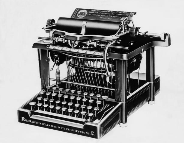 First practical modern typewriter inented by C. Sholes