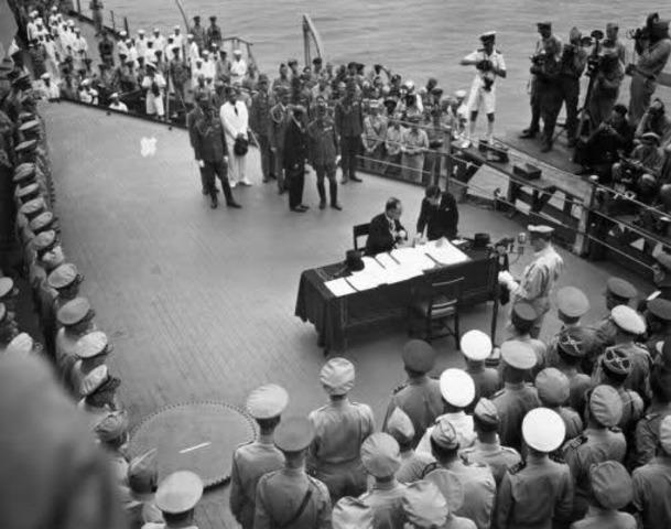 Fin oficial de la segunda guerra mundial