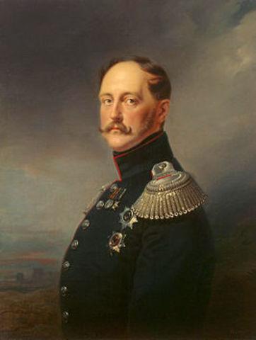 Tsaar Nicolaas I sterft
