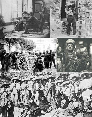 Inicia la lucha contra el gobierno de Díaz.