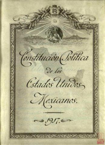 Se promulga la Constitución de 1917.
