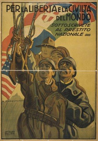 Italy declares war on Germany & Austria