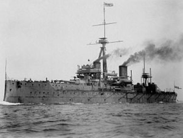 HMS Dreadnought is launched