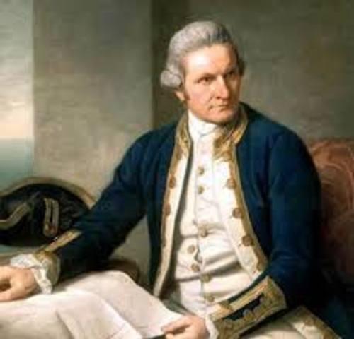 Captain Cook arrived in Australia