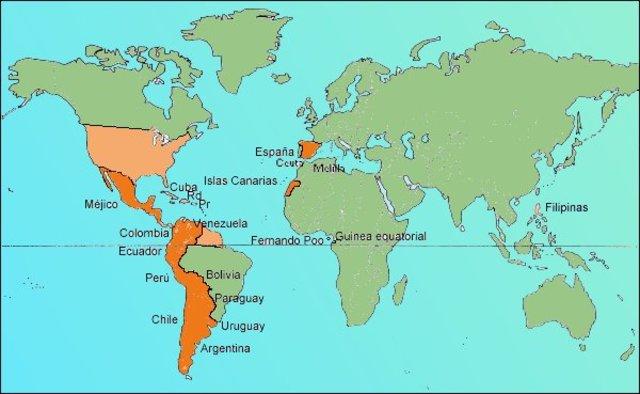 Difusión del español en el mundo