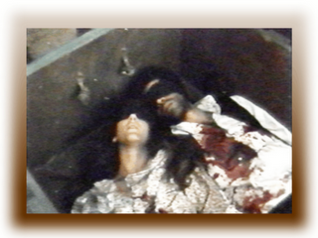 Rosas hace ejecutar a un sacerdote y a su amante, Camila O'Gorman, quien está a punto de dar a luz.