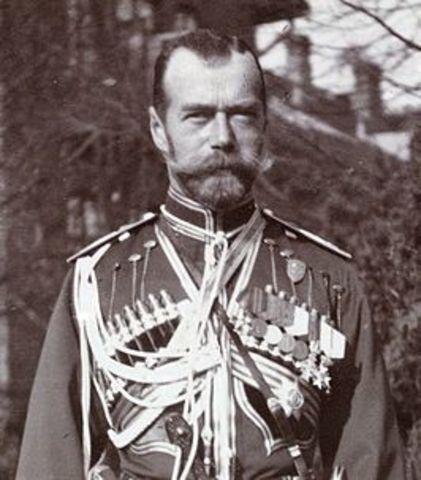 Tsaar doet afstand van de troon