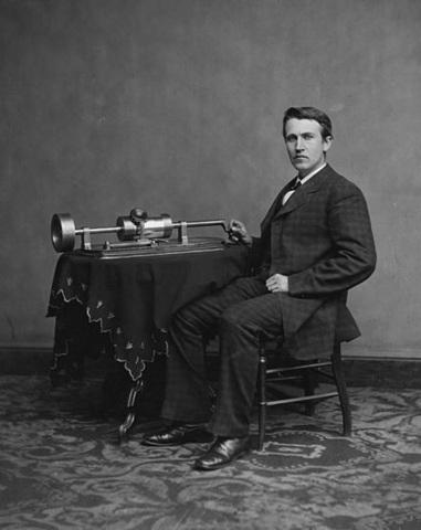 Thomas Edison Invents his Phonograph