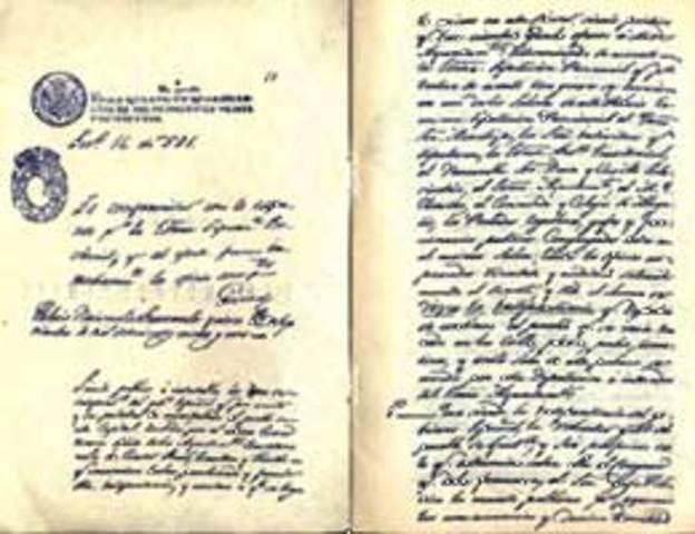 Año: 1821 Acta de Indepencia