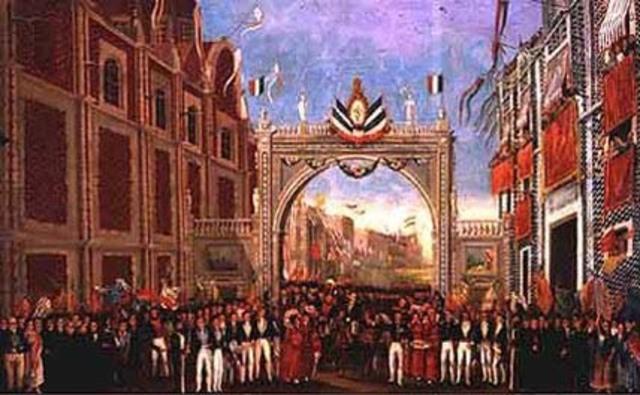 Año 1823 proyecto iturbide