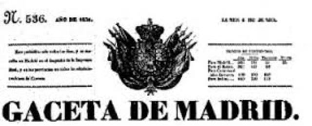 Primera publicación periódica pública en Español
